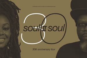"Iconic British band Soul II Soul are embarking on a landmark tour of the UK marking 30 years of hugely influential success, and paying tribute to their legendary debut album, Club Classics Vol 1.The double Grammy Award winning and five-time Brit Award nominated band will be stopping off in Leicester for the tour, which features a stunning production.With huge hits including Keep On Movin (which sold over a million copies in the US alone) and the UK number one single Back To Life (However Do You Want Me), Soul II Soul progressed from being one of the leaders of the 1980s warehouse scene to pioneering British black music around the world, and securing commercial success for themselves and the huge amount of artists they have influenced.During the course of their stellar career the band have sold over 10 million albums worldwide and main man Jazzie B was awarded an OBE for services to music in 2008, as well as winning an Ivor Novello Award for Inspiration, as ""the man who gave British black music a soul of its own"".Tickets £34 £30 £287pm doors - please note this is the time De Montfort Hall opens, not the start of the show."