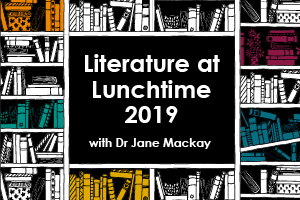 Literature at Lunchtime Season 2019Thursday 31 January | Graham Greene - The Third ManThursday 28 February | Anne Bronte - Agnes GreyThursday 28 March | C S Lewis - The Screwtape LettersThursday 25 April | Alexander Solzhenitsyn - One Day in the Life of Ivan DenisovitchThursday 30 May | Jonathan Swift - Gulliver's TravelsThursday 20 June | Elizabeth Gaskell - North and SouthThursday 11 July | Heinrich Harrer - Seven Years in TibetThursday 26 September | Charles Dickens - David CopperfieldThursday 24 October | Henry James - Daisy MillerThursday 28 November | Thomas Mann - The Magic MountainTickets £6.50Book four or more £5.50 each