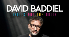 "Following his five-star Olivier-nominated hit My Family: Not The Sitcom and the return to number 1 of his seminal football anthem Three Lions, David Baddiel comes back to the stage with a brand new one-man show, Trolls: Not The Dolls.Trolls: the terrible people who spend all day insulting and abusing strangers for no other reason than to fill the huge gaps in their souls. There is a common wisdom about how to deal with trolls: don't, for goodness sake, encourage these people by replying to them.It's a good law. And it's one that David Baddiel has consistently broken. Because David has always seen trolls as hecklers, and if a comedian gets heckled, it is their duty not to ignore the heckler, but to wittily put them down. Over the years, David has spent a lot of time doing this, which has led him to think that there might be a show in it: a show that would say something about how we live now.David has stories to tell, of the dark, terrible and hysterically absurd cyber-paths that interacting with trolls has led him down. Come with him on this comedy journey into our culture's most dank virtual underground. You will come back safe, more able to deflect your own trolls, and only a little bit soiled.""Boasts side-splitting laughs and also moves people to tears."" Evening Standard""Hugely funny."" The Times""Compelling to watch both for its unvarnished truth and complicated affection."" The Guardian""A show that bubbles with love and unexpected joie de vivre."" The TelegraphThis is the new rescheduled date from Sunday 28 March 2021.  All tickets, including pre-booked venue parking, will remain valid for the new date. If you need to contact us to discuss your booking please email dmh-office@leicester.gov.uk"